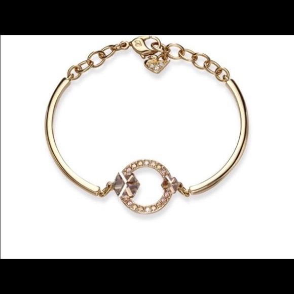 Swarovski Geometric Bangle Bracelet